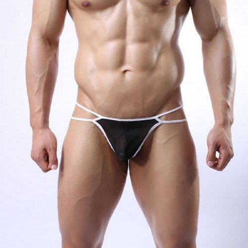 Men's Thong (Mature Beauty) - Black